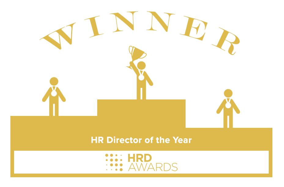 HRD Awards winner badge - HR Director of the Year